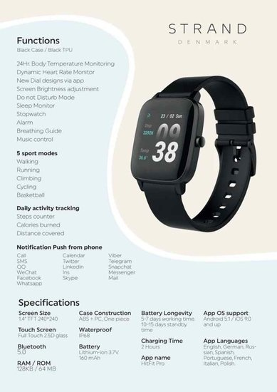 Strand STRAND smartwatch