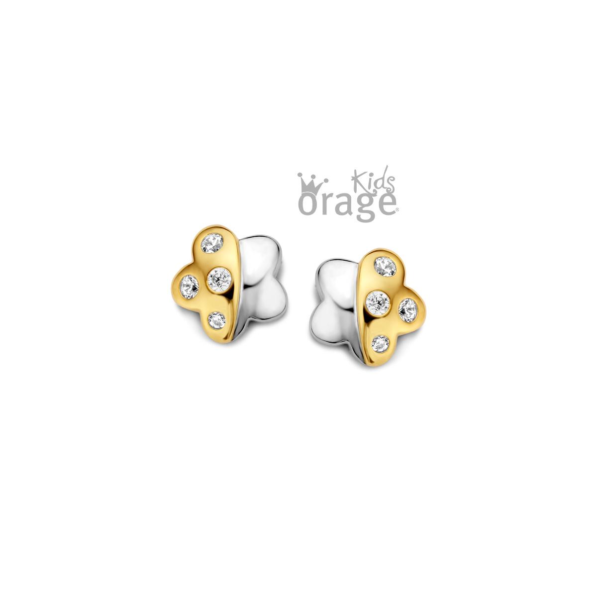 Orage kids Oorringen bloem geel 925 rh