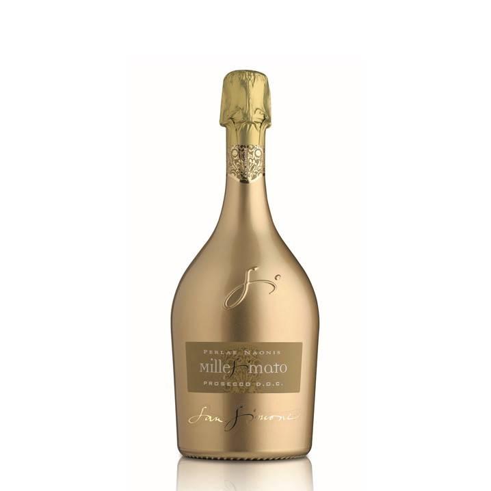 San Simone Perlae Naonis Prosecco Millesimato DOC Brut Limited Edition Goud