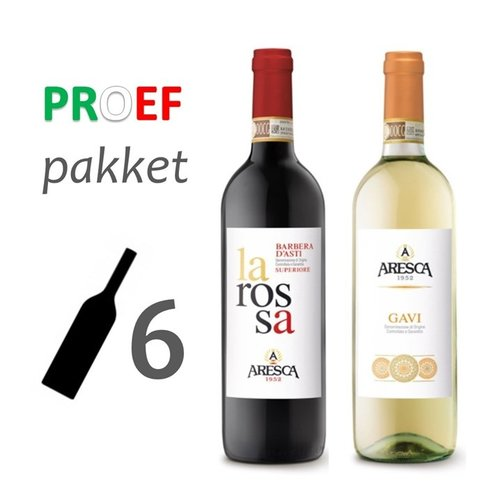 Aresca Vini Proefpakket Piemonte Aresca