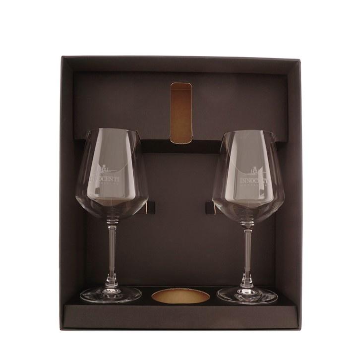 Innocenti Luxe giftbox met 2 gegraveerde glazen