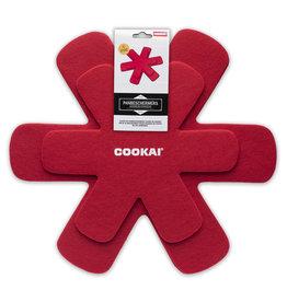 COOKAI COOKAI 105538 PANNEN BESCHERMERS ROOD 4-DLG SET