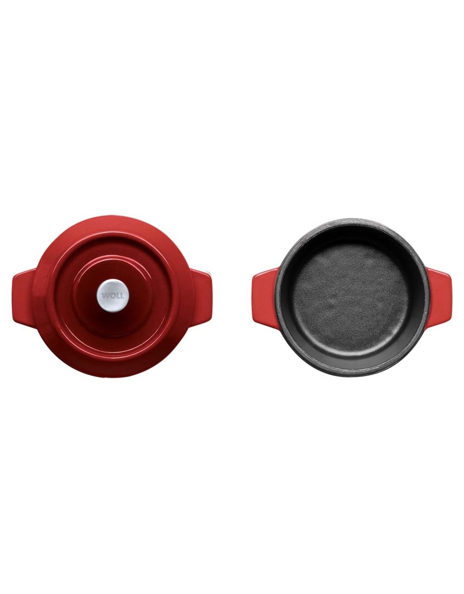 WOLL WOLL 110CI-010 IRON CASSEROLES 0.3 LTR 10X5CM CHILI RED