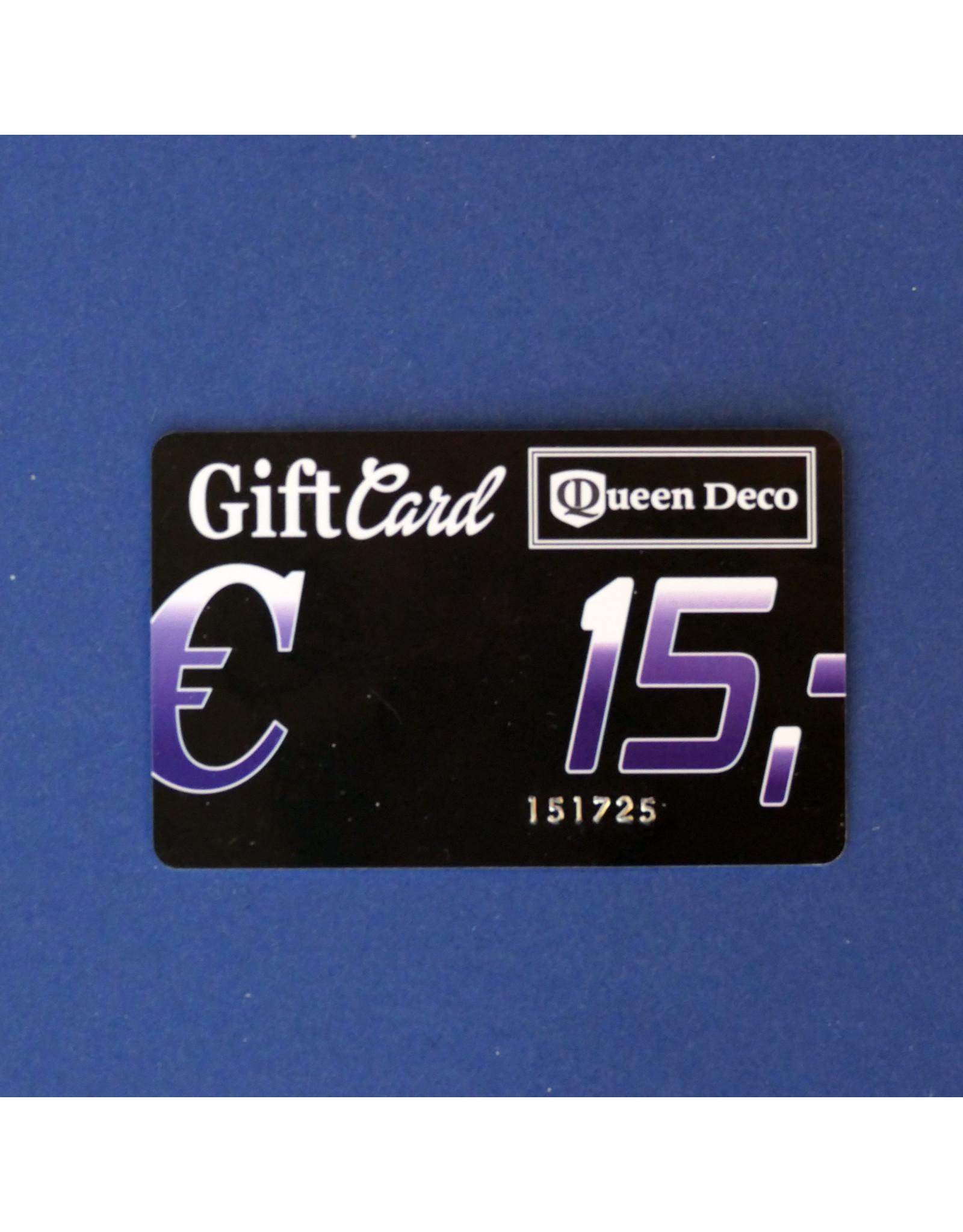 Q&D GIFTCARD CADEAUBON (GIFTCARD)  €  15.00 VIJFTIEN EURO