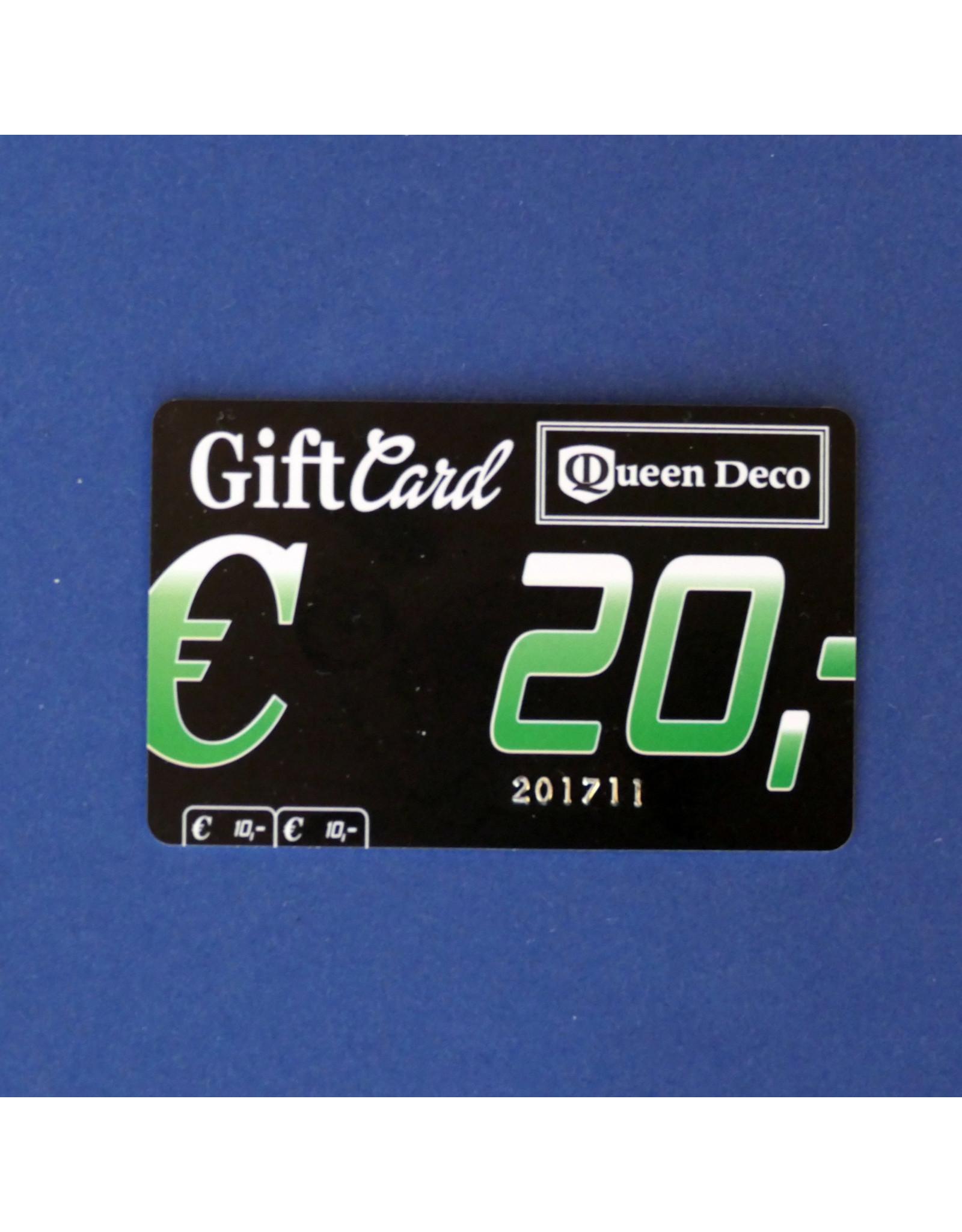 Q&D GIFTCARD CADEAUBON (GIFTCARD)  €  20.00 TWINTIG EURO
