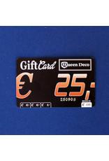 Q&D GIFTCARD CADEAUBON (GIFTCARD) € 25.00 VIJFENTWINTIG EURO