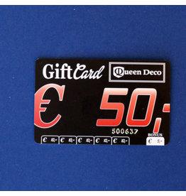 Q&D GIFTCARD CADEAUBON (GIFTCARD) € 50.00 VIJFTIG EURO