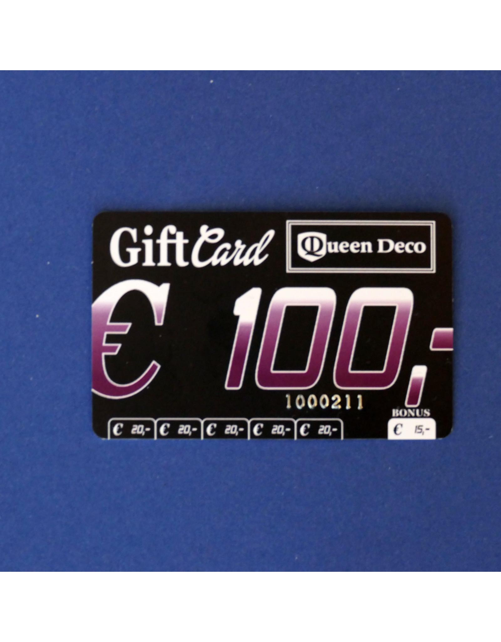 Q&D GIFTCARD CADEAUBON (GIFTCARD) €100.00 HONDERD EURO