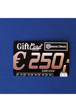 Q&D GIFTCARD CADEAUBON (GIFTCARD) €250.00 TWEEHONDERDVIJFTIG EURO