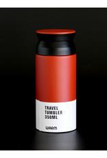 TRAVEL TUMBLER ROOD/BRUIN 350ML