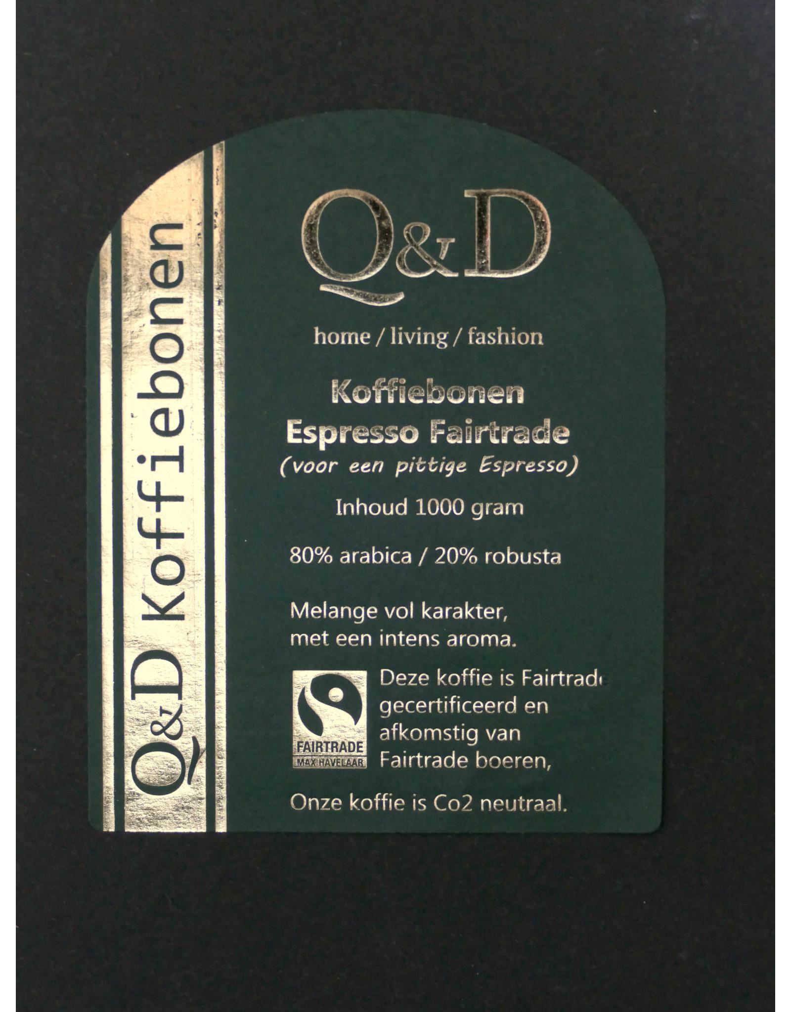 Q&D KOFFIEBONEN KOFFIEBONEN ESPRESSO 1KG FAIR TRADE