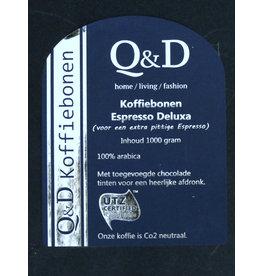Q&D KOFFIEBONEN KOFFIEBONEN ESPRESSO 1KG DELUXA