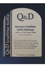 Q&D KOFFIEBONEN KOFFIEBONEN SNELFILTER 1KG GEWALSTE KOFFIE