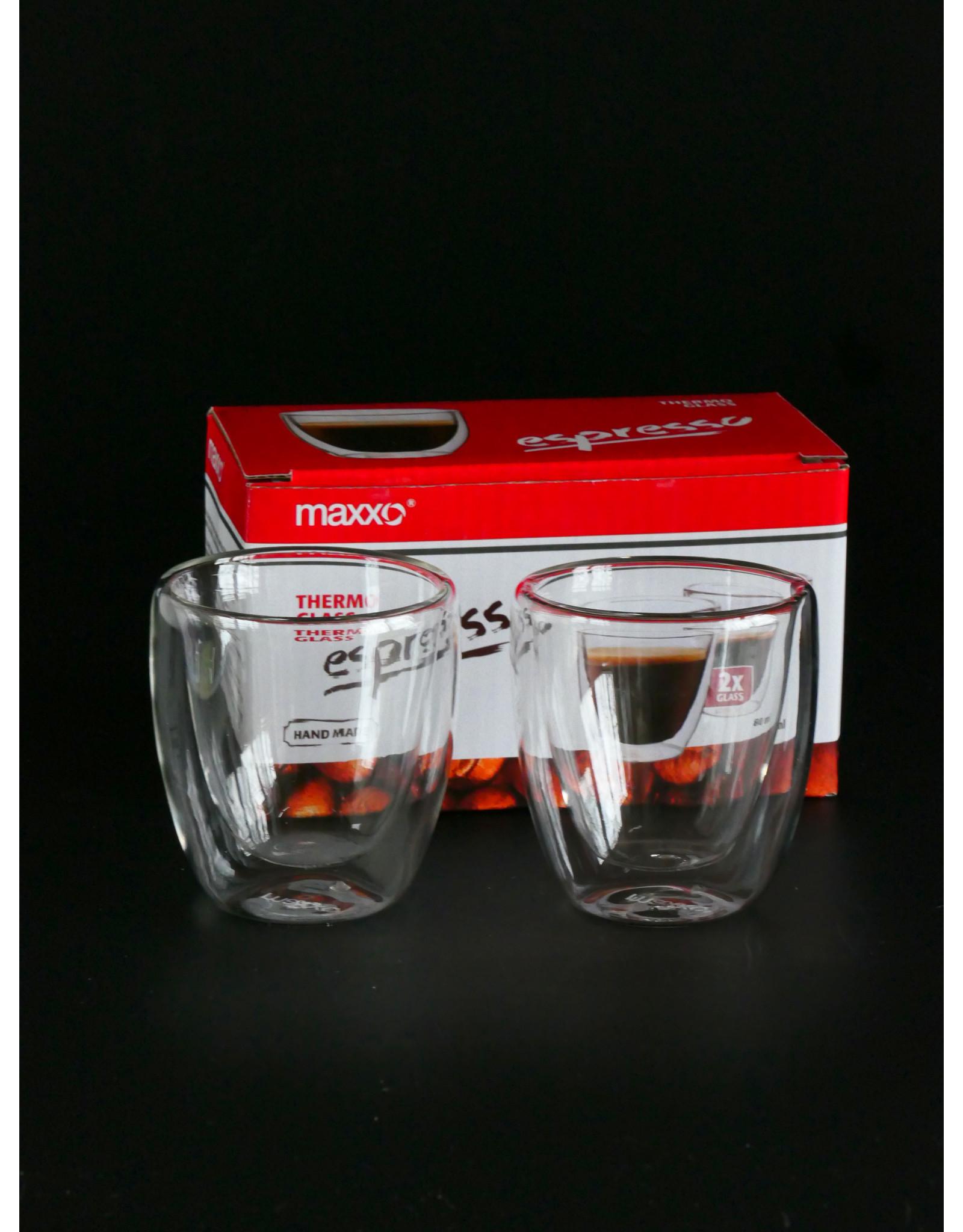 MAXXO MAXXO KLEINE ESPRESSO GLAZEN SET 2 STUKS