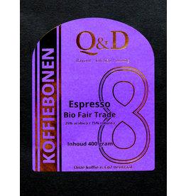 Q&D KOFFIEBONEN KOFFIEBONEN ESPRESSO BIO FAIR TRADE 400GRAM