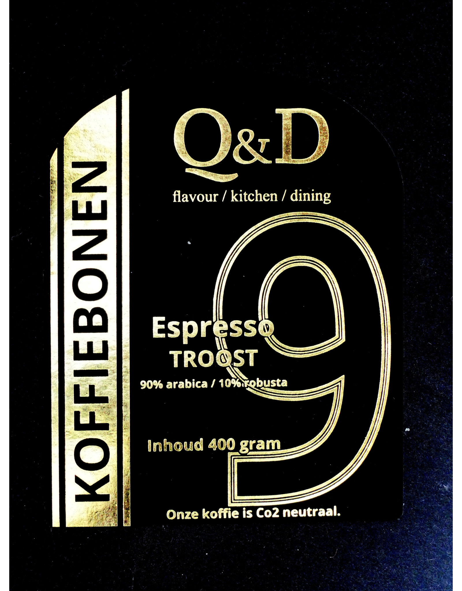 Q&D KOFFIEBONEN KOFFIEBONEN ESPRESSO TROOST 400GRAM