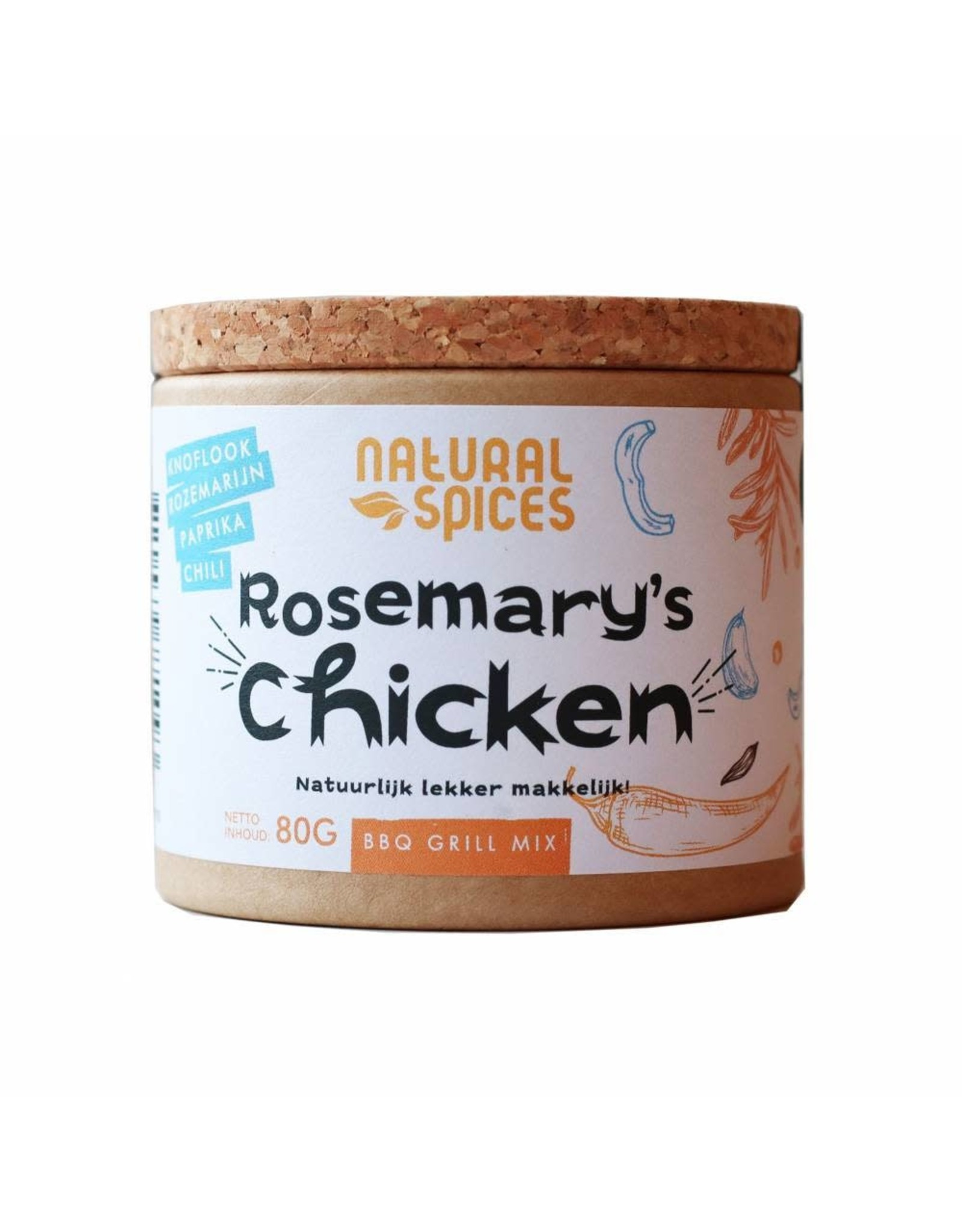 NATURAL SPICES NATURAL SPICES 2010 80GRAM ROSEMARY'S CHICKEN