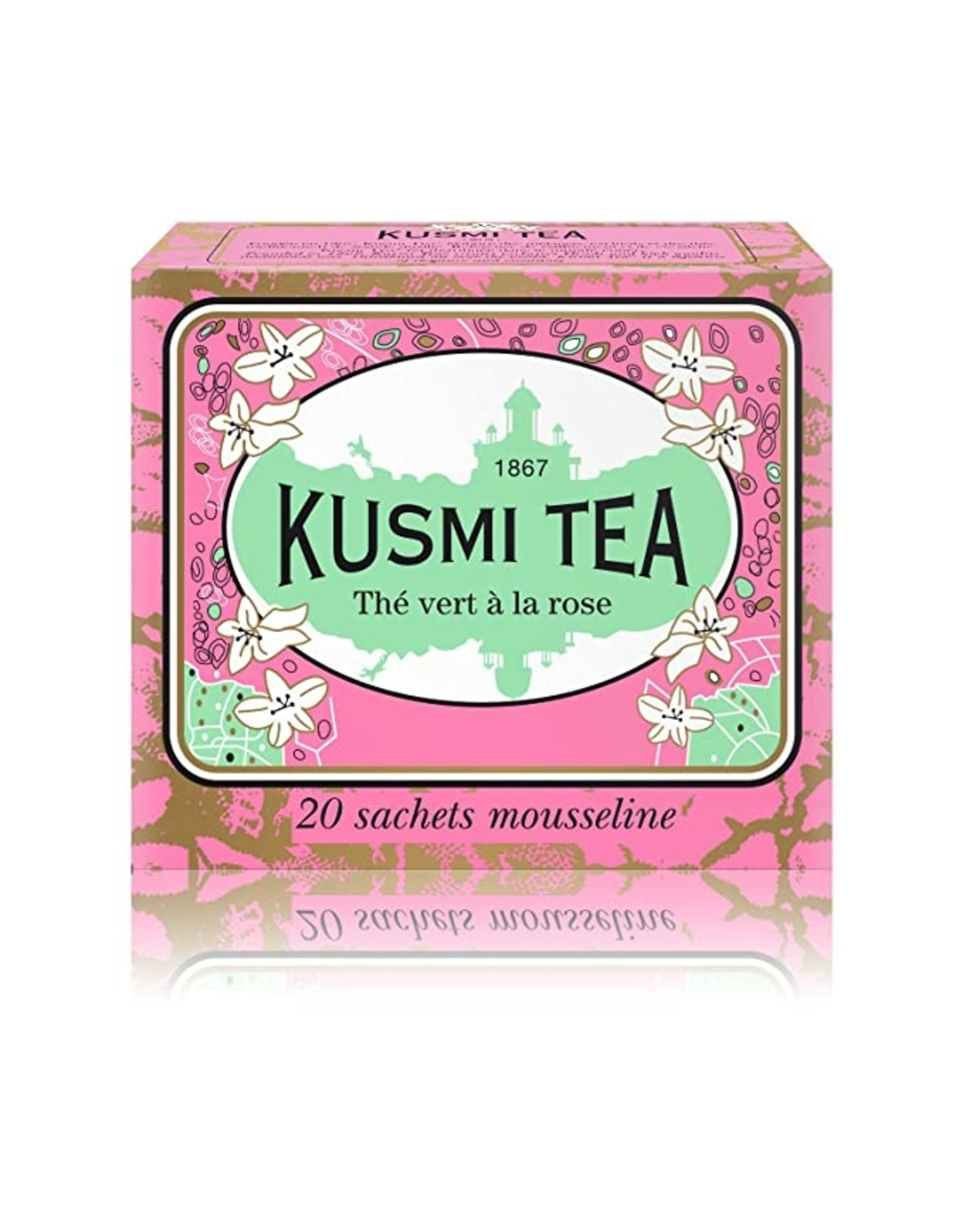 Kusmi Kusmi Tea Green Rose Bags, 20pc.