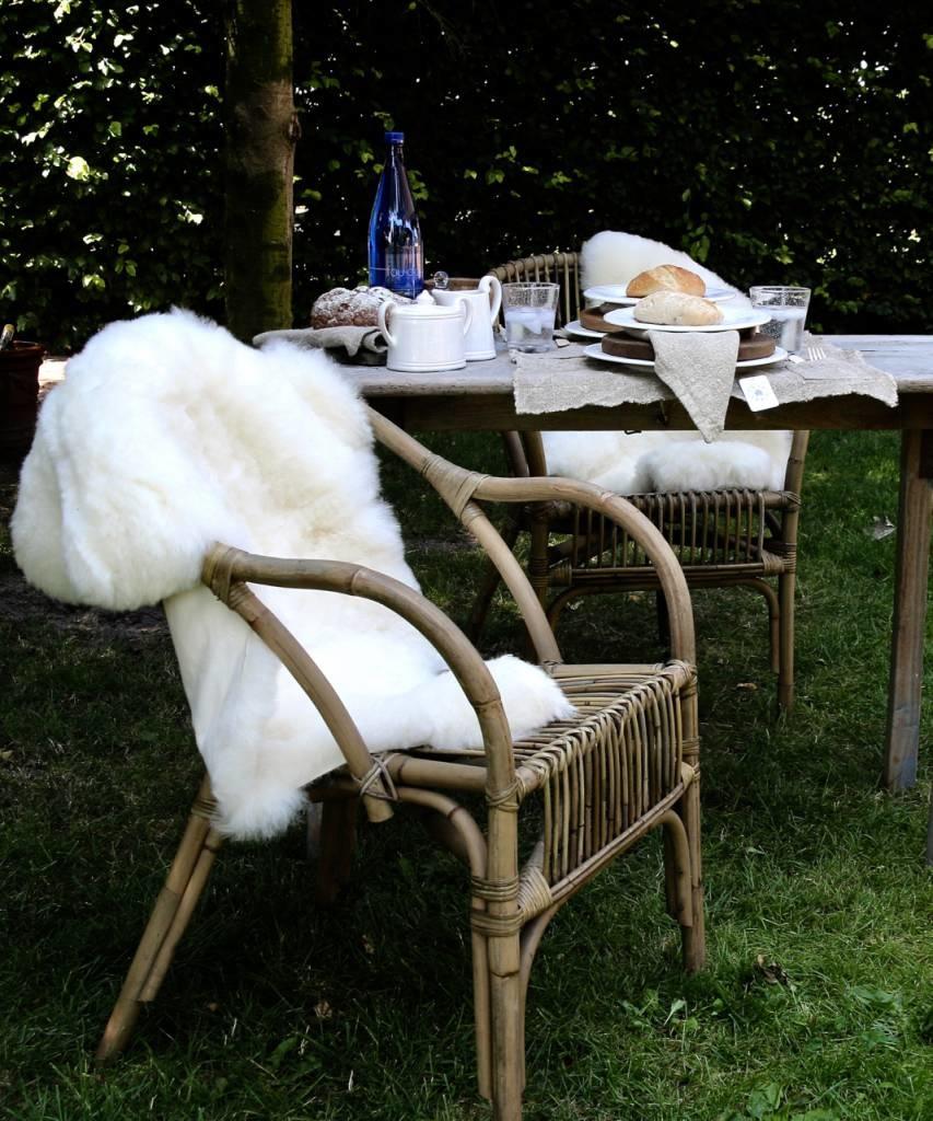 Very soft Sheepskin Creamy white-4