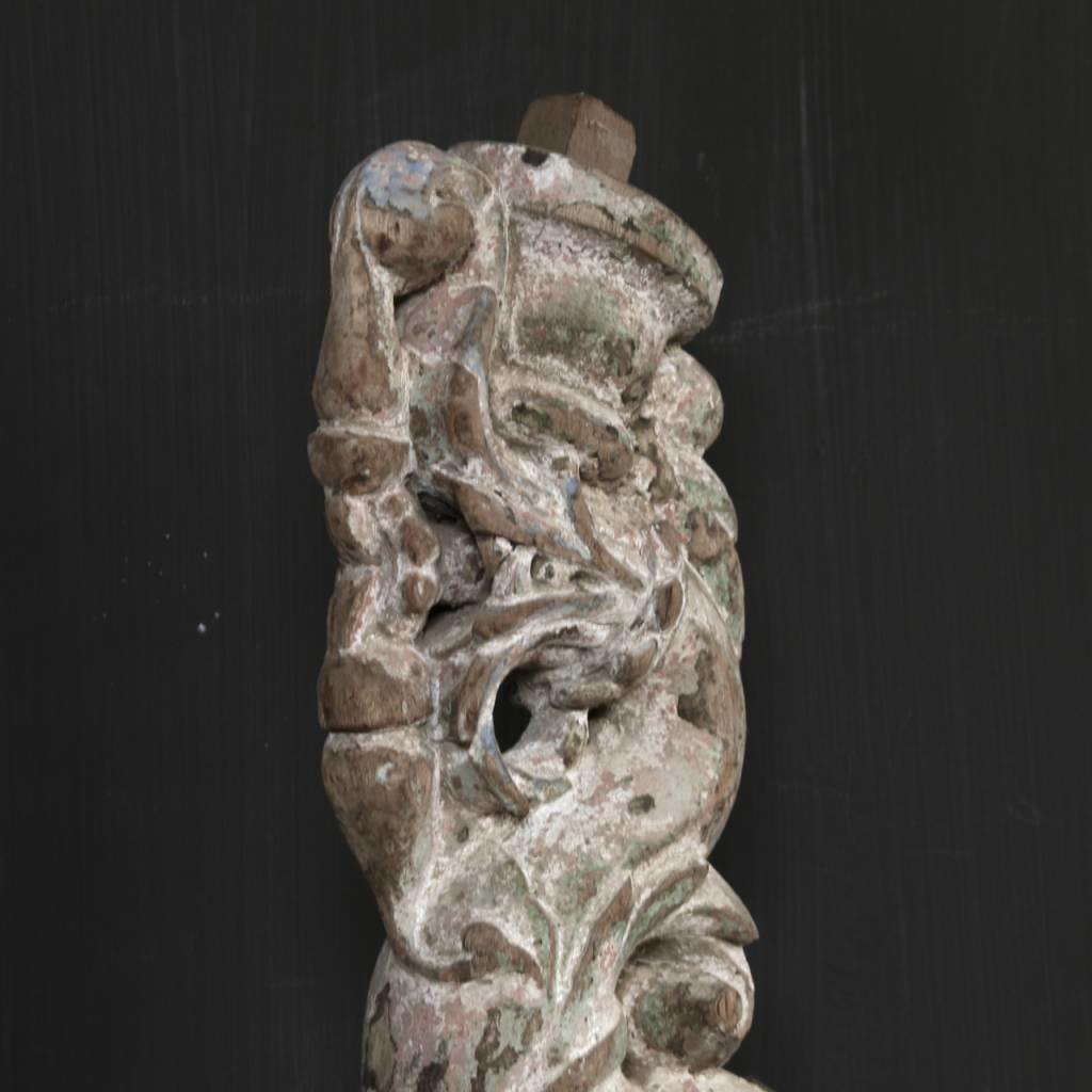 Oud Uniek Ornament op ijzeren voet-8