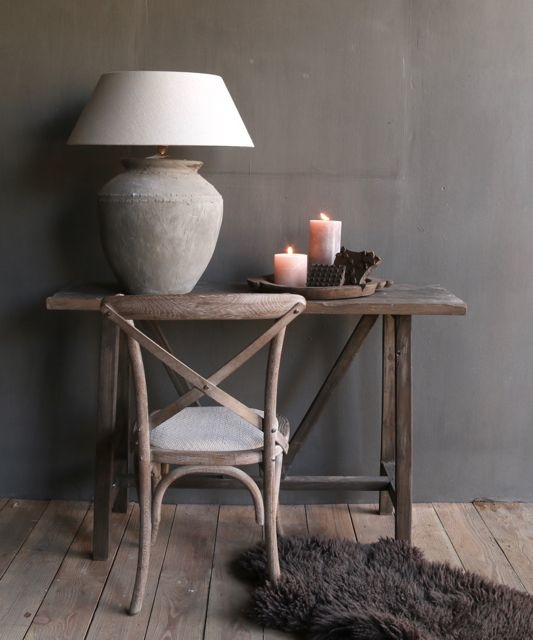 gray wood dining room chair-1