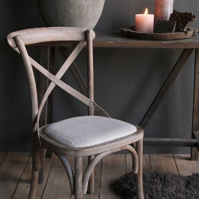 ergrautes Holz Dining Chair-3