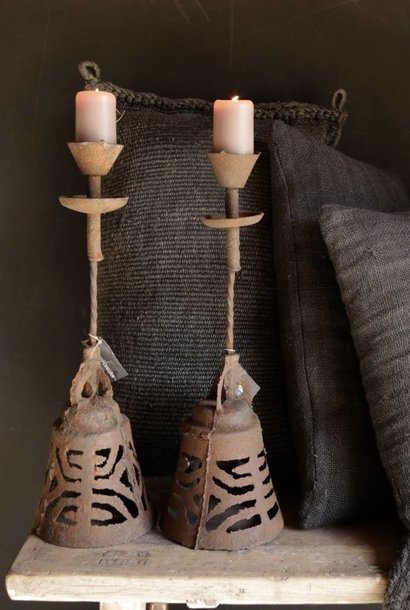 Authentic iron candlestick