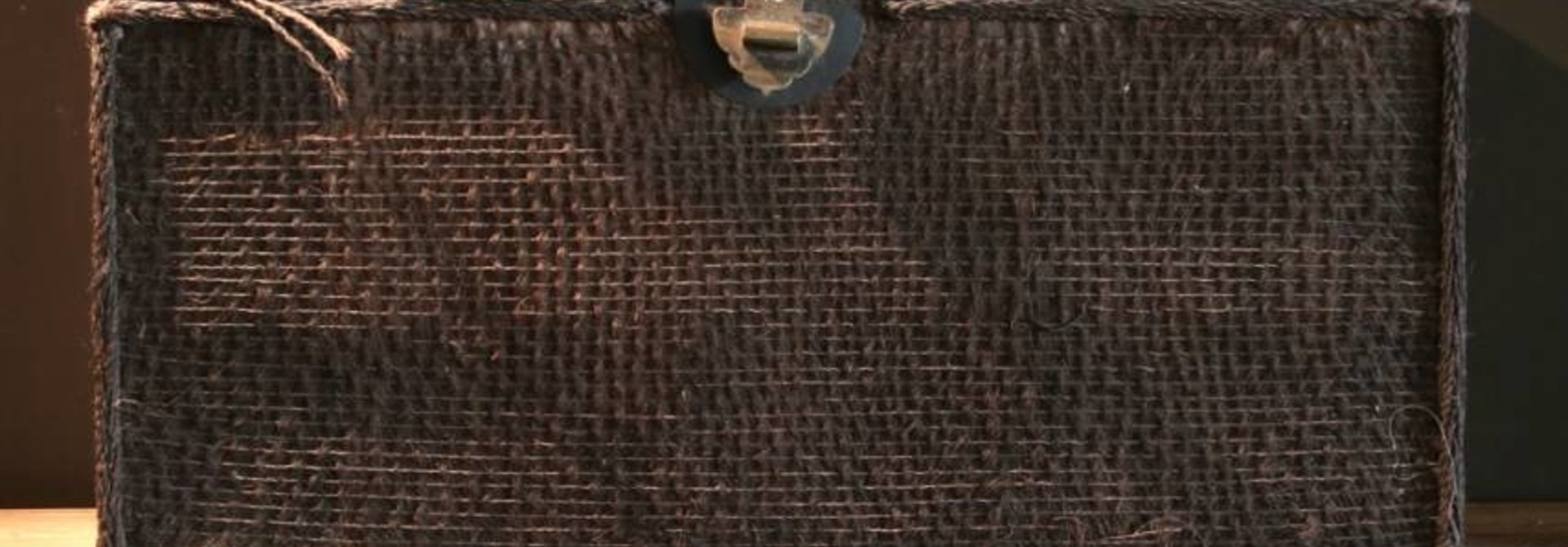Beautiful Unique Suitcase lined with palm bark