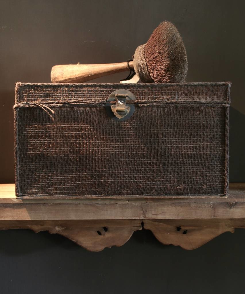 Beautiful Unique Suitcase lined with palm bark-1