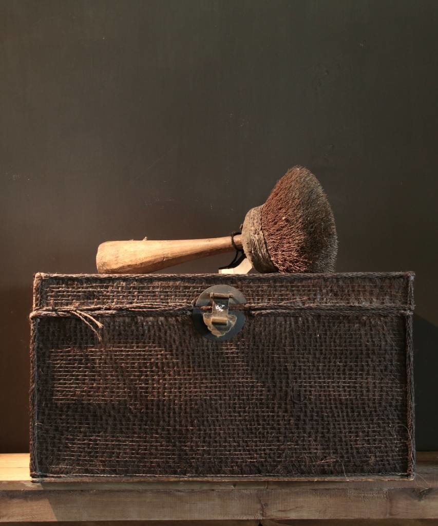 Beautiful Unique Suitcase lined with palm bark-2