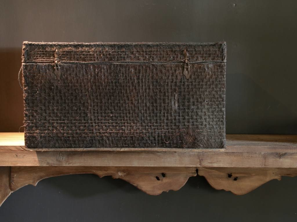Beautiful Unique Suitcase lined with palm bark-5