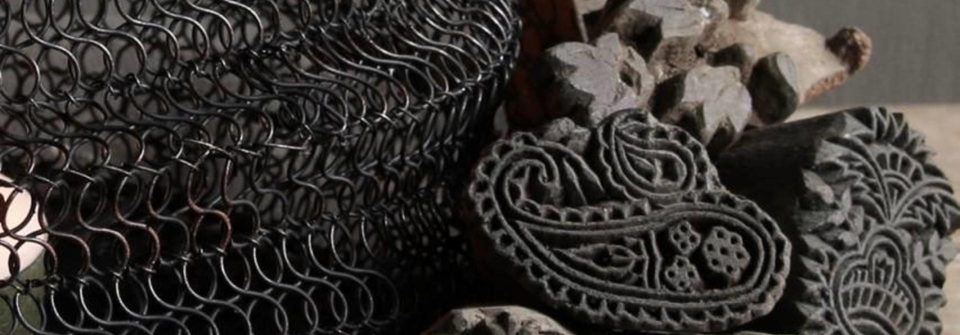 Assortie van kleine oude Batik stempeltjes
