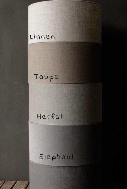 Kappen in de kleur Taupe met transparant binnen kant