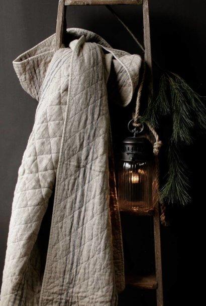 Linen / cotton quilt plaid