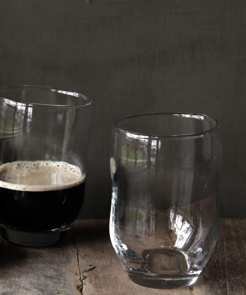 Helder drinkglas met deuk PTMD-2