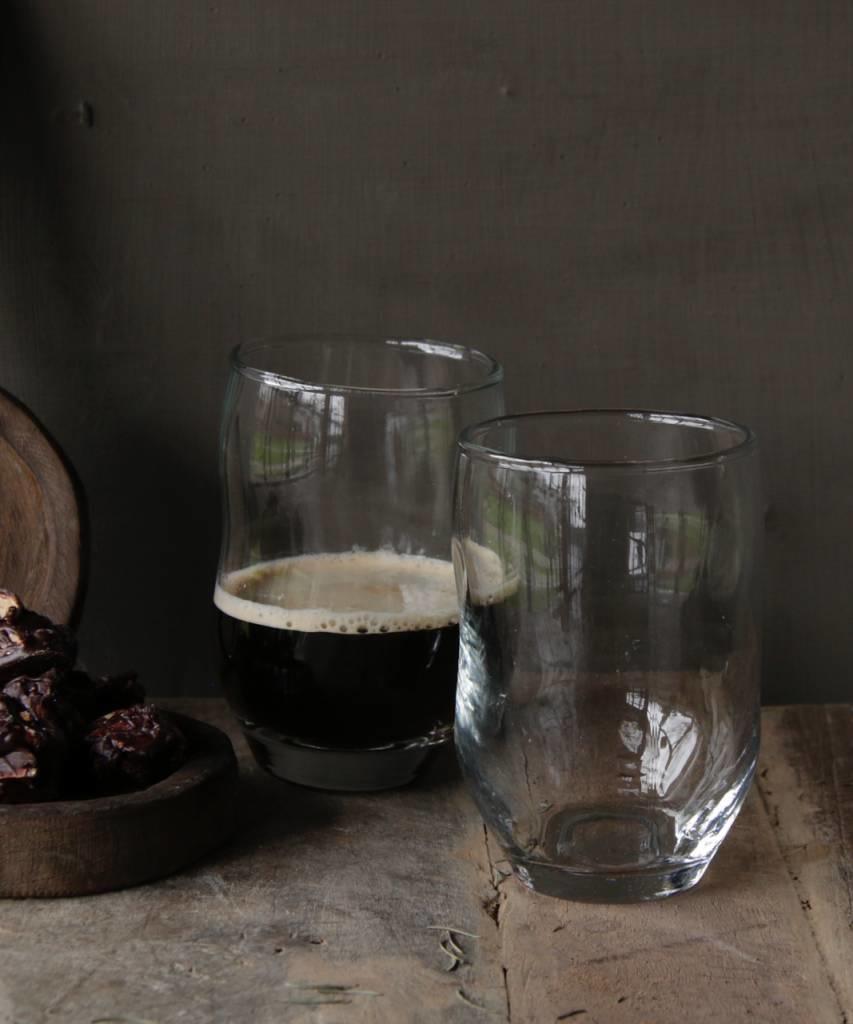 Helder drinkglas met deuk PTMD-4