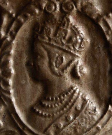 Wand paneeltje Brons met houten lijst Aura Peeperkorn