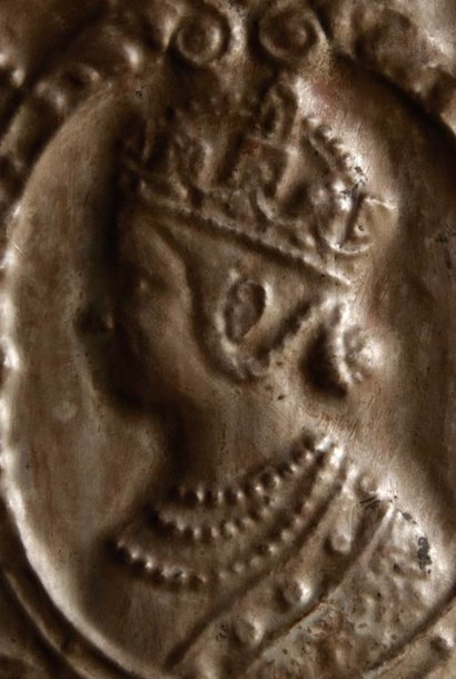 Wandpaneel Bronze mit Holzrahmen Aura Peeperkorn