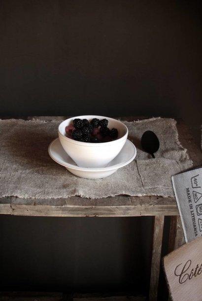 CÔTÉ TABLE Stoer linnen placemat met bestek zakje