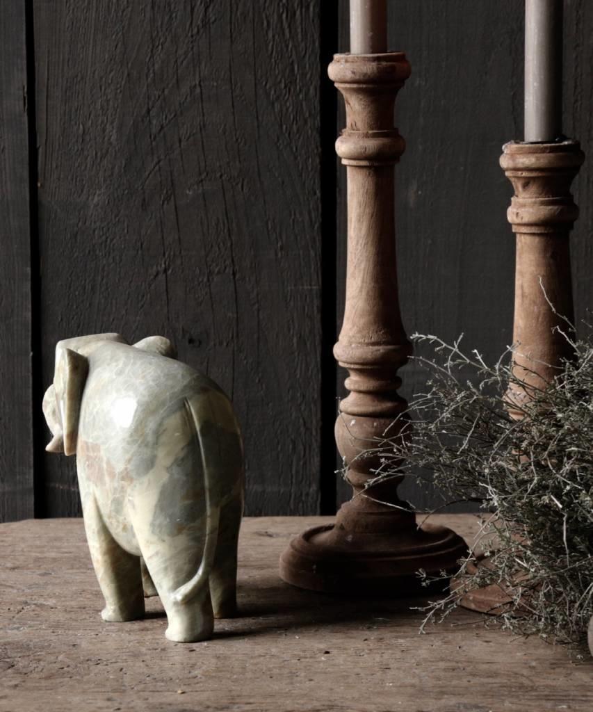 Indisch natuurstenen Olifantje-4