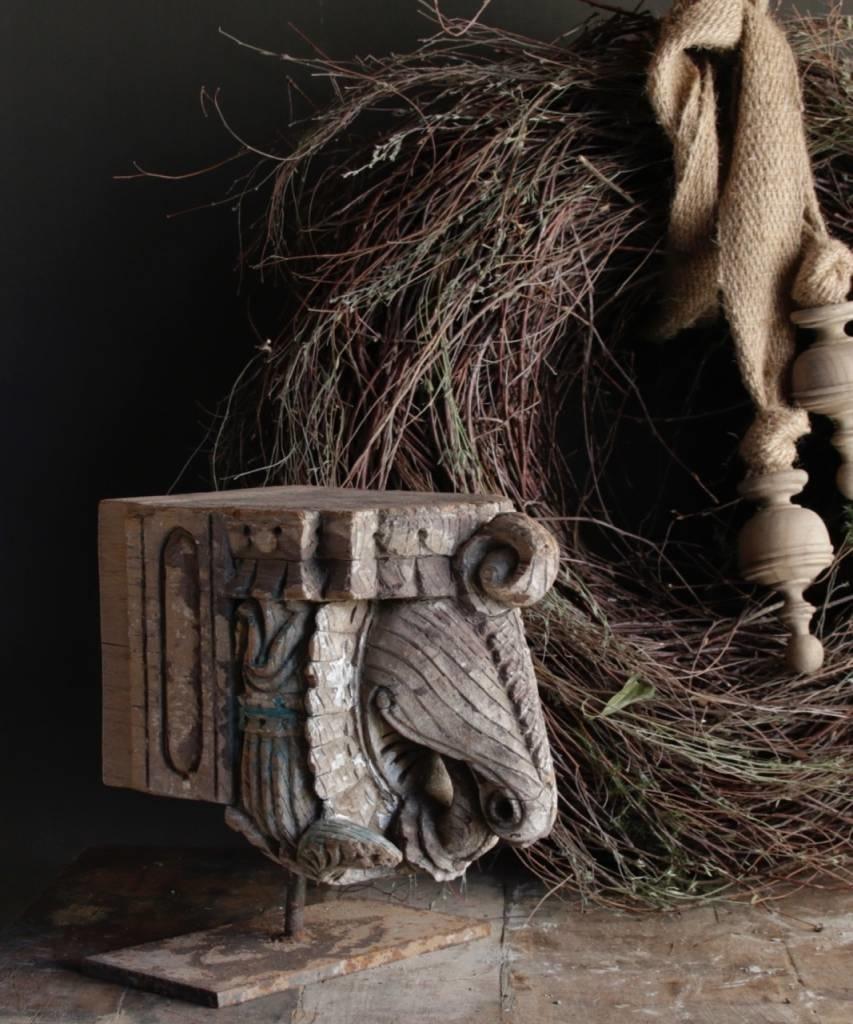 Indischer Elefant Ornament auf Stahlbasis-1