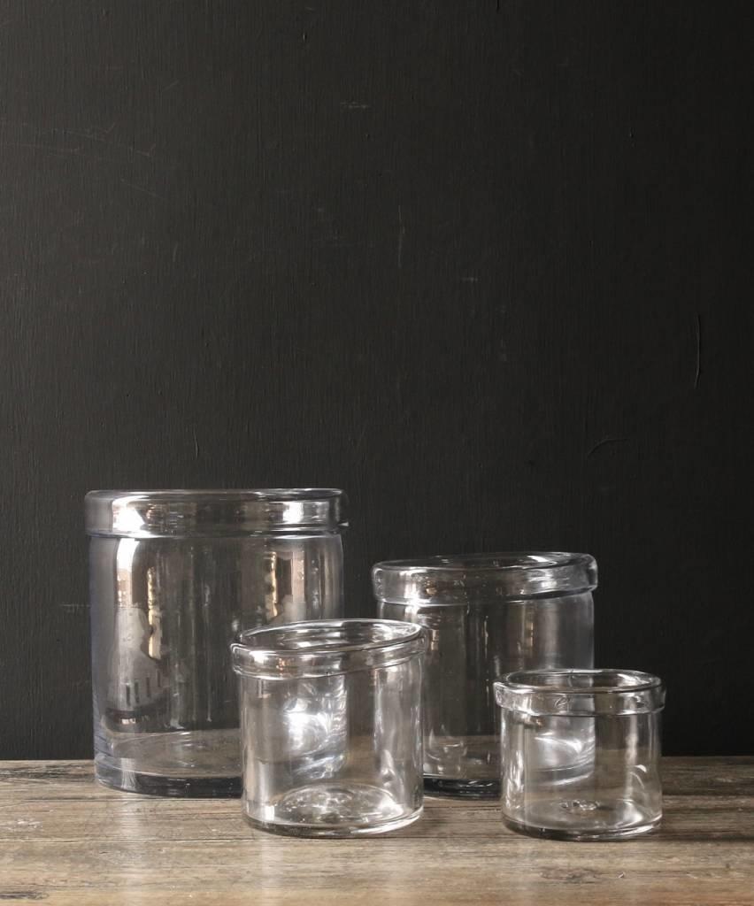 Glazen windlicht met omgevouwen rand ( Handmade)-4
