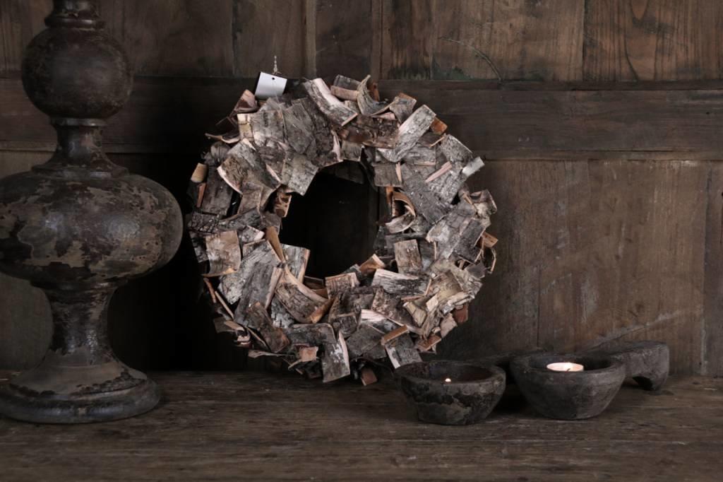 Birch bark wreath-5
