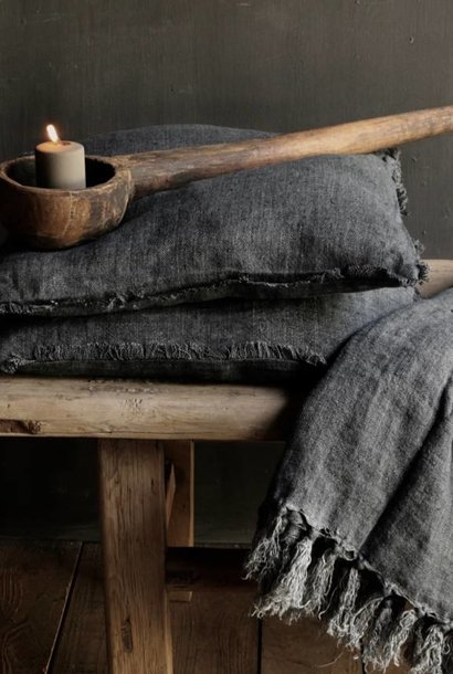 Linen Plaid in the color gray / anthracite