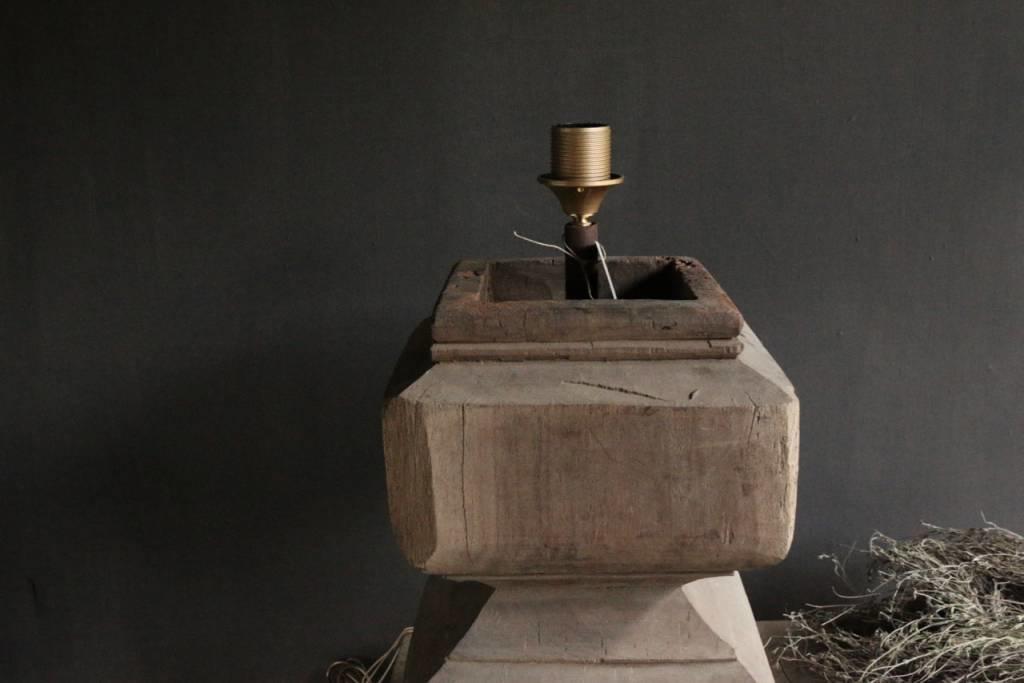 Houten Baluster lamp-2