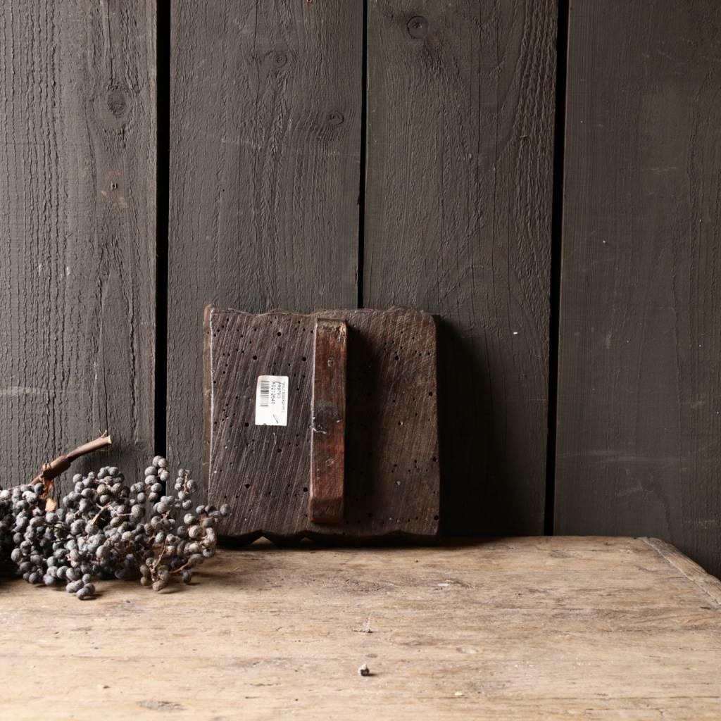 Oud houten Indische batik stempel-2