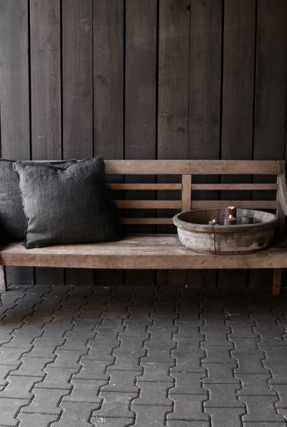 Authentic old wooden bench
