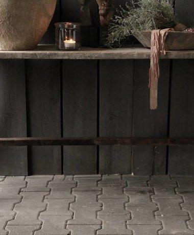 Oud houten side table /muurtafel