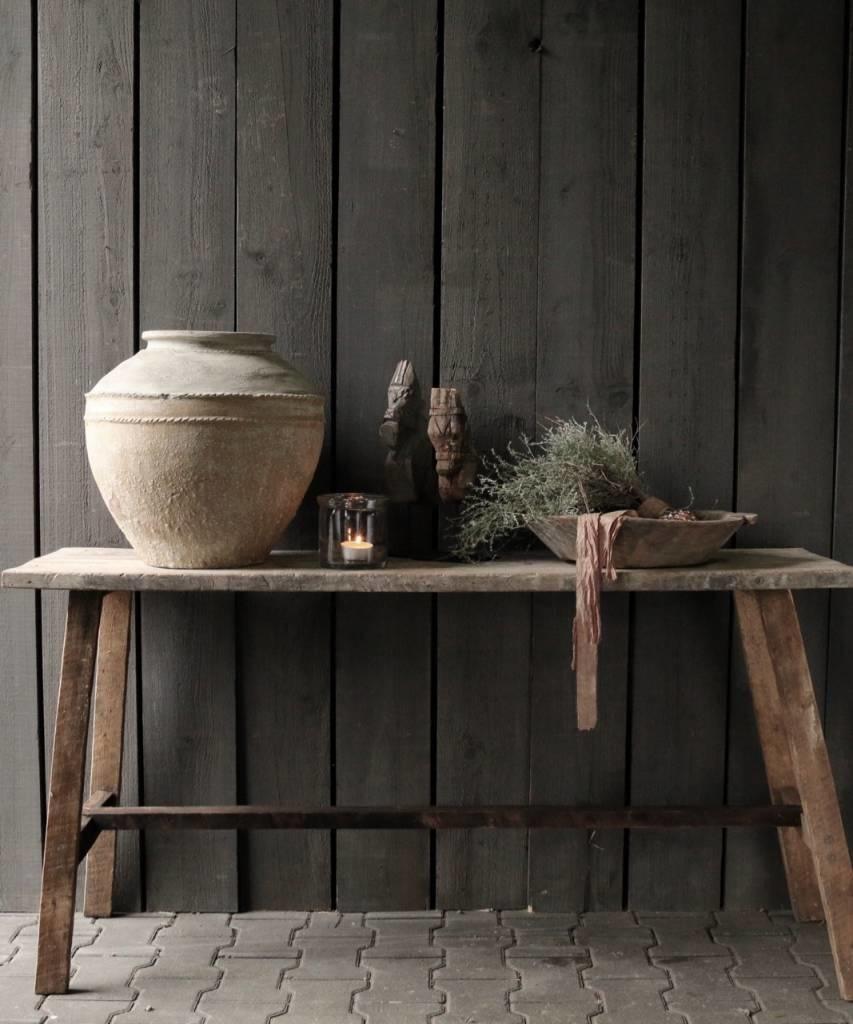 Oud Houten Side Table.Oud Houten Side Table