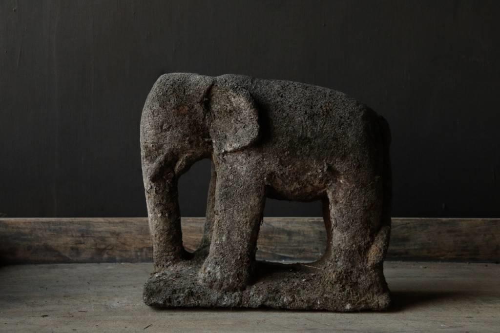 Beautiful dark gray sandstone Elephant-1
